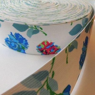 Elastische tailleband - bloemen (4.00 cm)