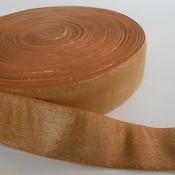 Elastische tailleband - glitter goud & oranje (4 cm breed)