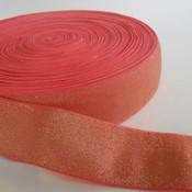 Elastische tailleband - glitter goud & roze  (4 cm breed)