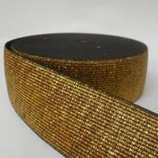 Elastische tailleband - glitter goud & zwart  (4 cm breed)