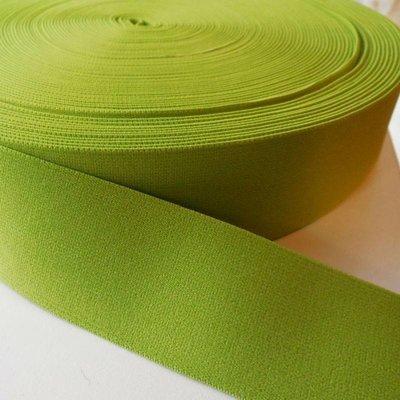Elastische tailleband - lichtgroen (3,80 cm)
