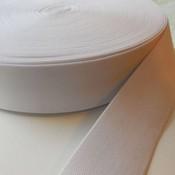 Elastische tailleband - wit (3,80 cm)