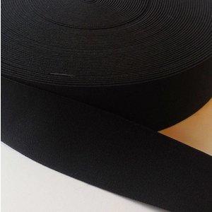 Elastische tailleband - zwart (3,80 cm)