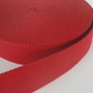 Tassenband donkerrood 30 mm