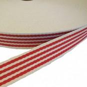 Tassenband rood-witte strepen