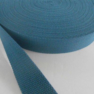Tassenband staalblauw 30 mm