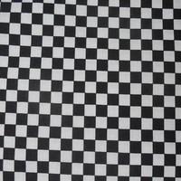 Katoen - Zwart-witte blokjes