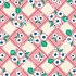 Tricot - Finch Fabrics - Pink flower alice apple