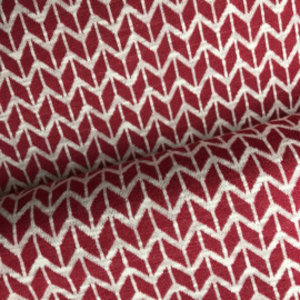 Tricot - Jacquard  Rood - wit