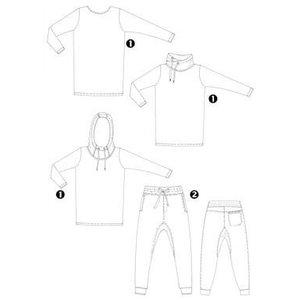 Abacadabra - 180 - 3x shirt + Broek  - patroon
