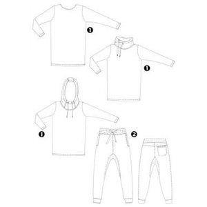 Patroon 3x shirt + Broek 180