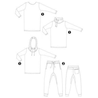 3x shirt + Broek 180