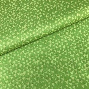 Katoen - Timeless Treasures - Driehoekjes groen