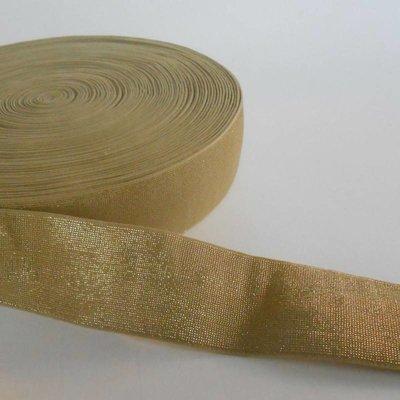 Elastische tailleband - glitter goud (4 cm breed)