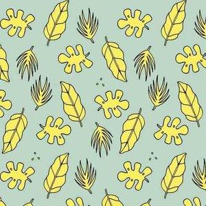 About Blue Fabrics French Terry - Eva Mouton - Jungle