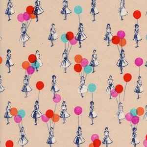 Cotton & Steel Katoen - Cotton & Steel - Melody Miller - Balloons Peach