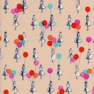 Cotton & Steel Katoen - Cotton & Steel - Melody Miller - Balloons Peach