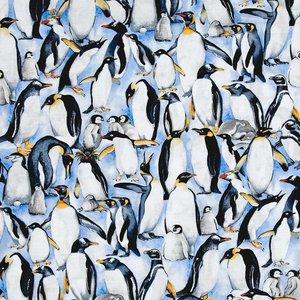 Timeless Treasures Katoen -Timeless Treasures - Stacked Penguins
