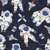 Timeless Treasures - Katoen - Timeless Treasures - Space Astronaut Navy