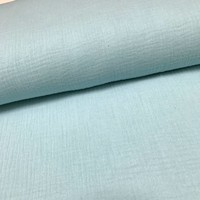 Double Gauze - Bright blue
