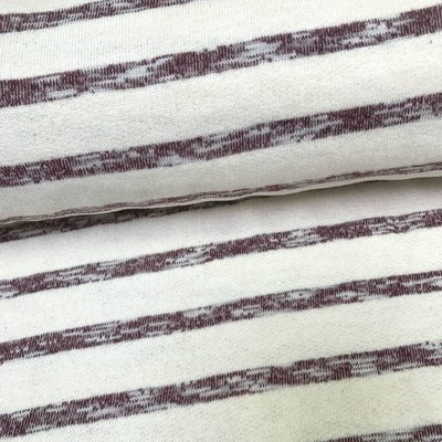 Lillestoff Sweater - Lillestoff - Stripes Crème-Aubergine