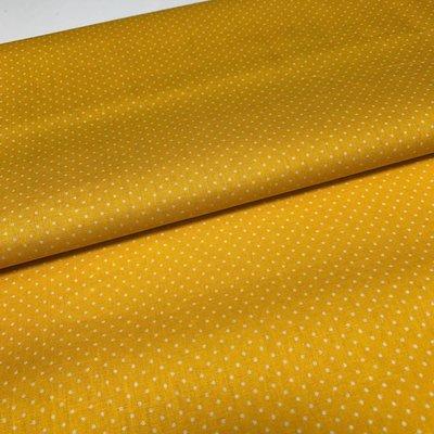 Katoen - Stippen - geel