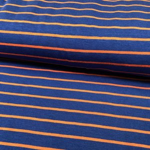Froy & Dind Biotricot - Froy & Dind - Stripes Sienna Blue - Bamboo