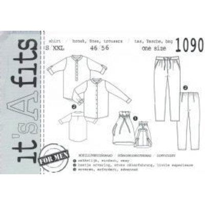 Shirt + broek + tas voor mannen 1090