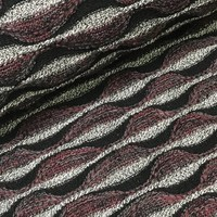 Jacquard - Waves aubergine