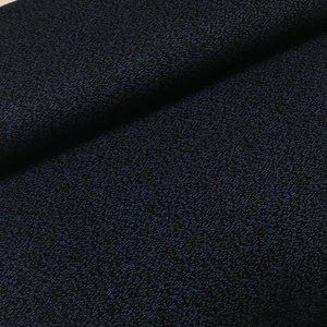Jacquard - zwart/blauw