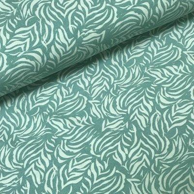Megan Blue Fabrics Tricot - Bladeren Dark Old Green