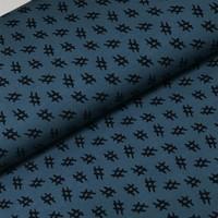 Megan Blue Fabrics Tricot - Hashtag jeans/Navy