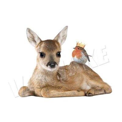 Van Ikke - Strijkapplicatie - Hertje met roodborstje