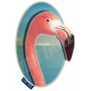 Van Ikke Strijkapplicatie - Flamingo Close-up