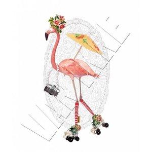 Van Ikke Strijkapplicatie - Flamingo