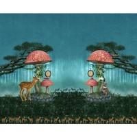Tricot - Stenzo - paneel paddestoel en bambi