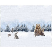 Tricot - Stenzo - paneel beer en konijntjes