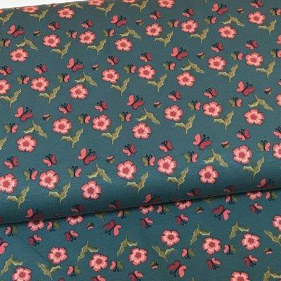 Tricot - Stenzo - Blauwe bloemetjes