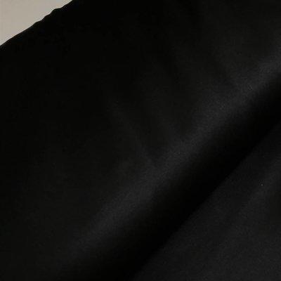 Stretchsatijn - Zwart