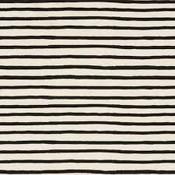 Cotton & Steel Katoen - Cotton & Steel - Rifle Paper Co - Wonderland Stripes Zwart/wit