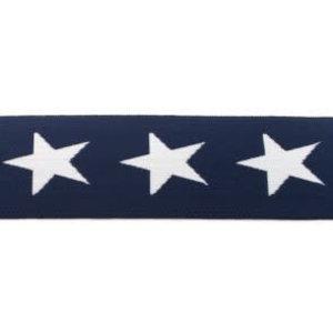 Elastische tailleband - marineblauw met sterren (3,80 cm)