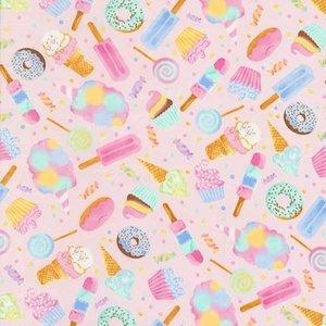 Katoen - Timeless Treasures - Donuts & ijsjes
