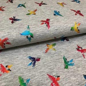 Tricot Shiny Foil Birds