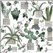 Nuukk porseleinsticker - Colourful Cactus