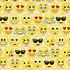 Katoen - Timeless Treasures Fun Emoticon