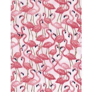 Katoen - Timeless Treasures - Flamingo's Pink