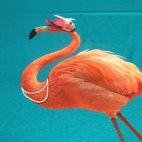 Tricotpaneel - Flamingo