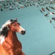 Tricotpaneel - Paarden