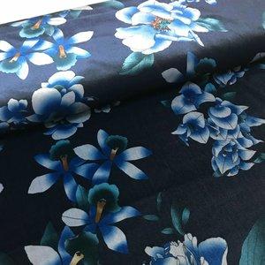 Velvet - Bloemen blauw