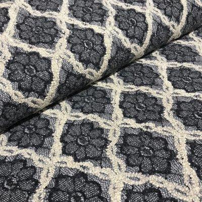 Sweater met kant - Blauw ecru